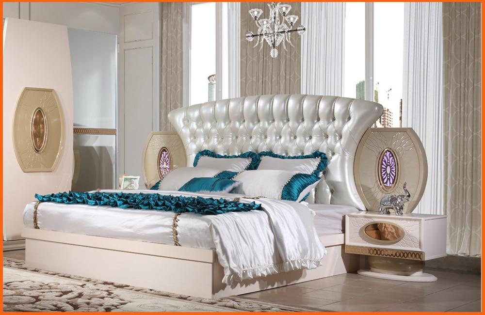 € 1369.17 |Ensemble de chambre à coucher de meubles Quarto Real nouveau  Design haute qualité prix bas lit King Size, table de nuit, armoire,  commode, ...