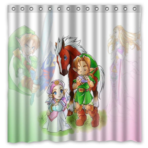 Charitable 2016 Legend Of Zelda Waterproof Polyester Shower Curtain Mildewproof Bath Curtains Cortinas Para Banheiro 180x180cm Bathroom Products