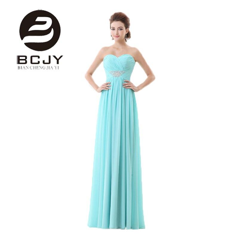 Élégantes longues robes formelles chérie dos nu Empire une ligne robes de soirée perles cristal mousseline de soie robes de soirée robes