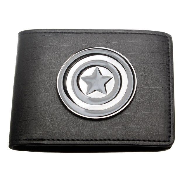 Бумажник Капитан Америка черный с логотипом