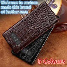 QH07 Genuine leather half-wrapped case for Samsung Galaxy Note 9 phone cover