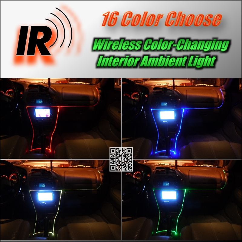 Wireless Ir Control Car Interior Ambient 16 Color Changing Light