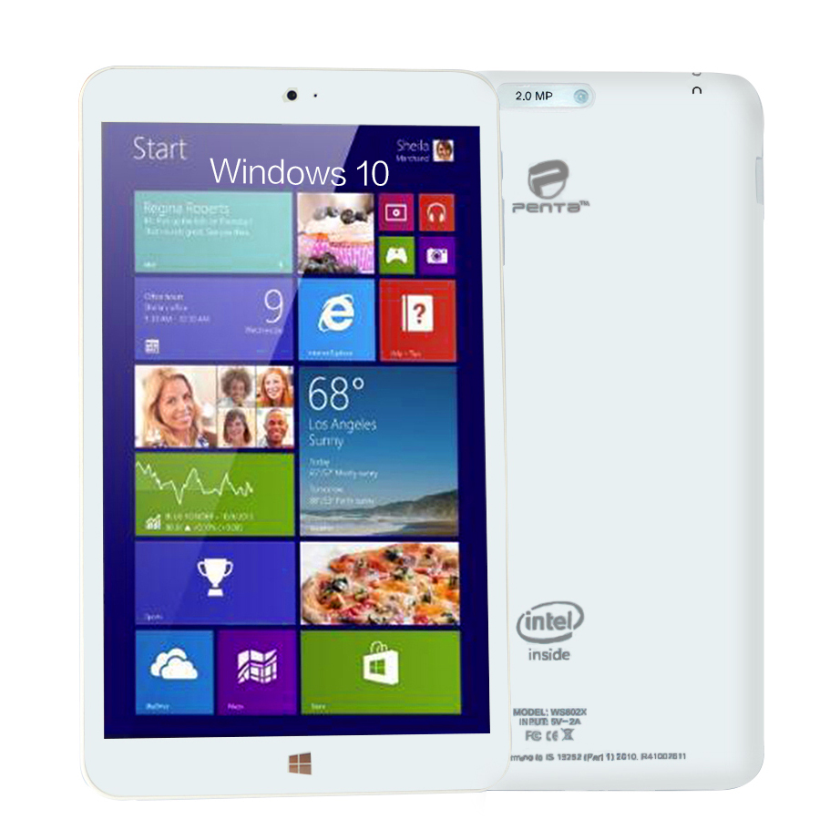 PENTA Tablet Windows 8 inch IPS Screen Quad Core Window 10 Tablets for Intel 16GB Tablet