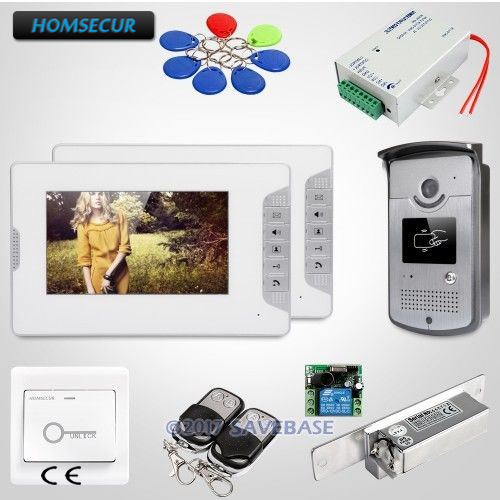 HOMSECUR 7inch Video Door Phone Intercom System with IR Night Vision for Home Security