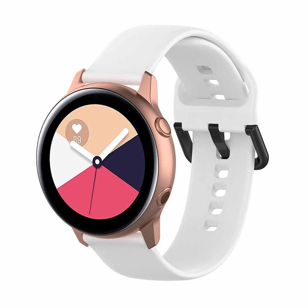 20mm רצועת השעון סיליקון לסמסונג גלקסי שעון פעיל 42mm הילוך S2 ספורט החלפת צמיד להקת רצועת עבור SM-R500 SM-R810