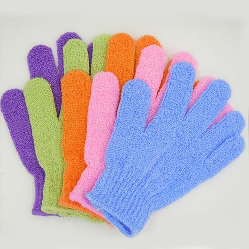 1pc Bath Glove Exfoliating Wash Skin Spa Massage Body Scrubber Cleaner Shower Gloves Foam Bath Body Massage Glove