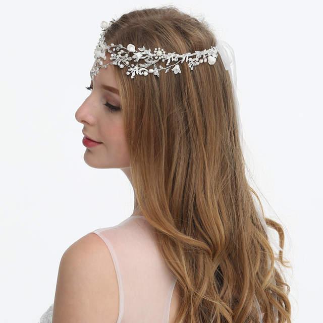 b5f97dd597a07 US $32.46 25% OFF|2019 New Handmade Flower and Rhinestone Wedding Dress  Tiara Princess Crown Headband UK Hot Sell Queen's Tiara-in Hair Jewelry  from ...