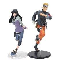 Set of 2 Naruto Shippuden Hatake Kakashi Shikamaru Namikaze Uchiha Figura Naruto PVC Figure Set Sasuke Minato Hyuuga Hinata Doll