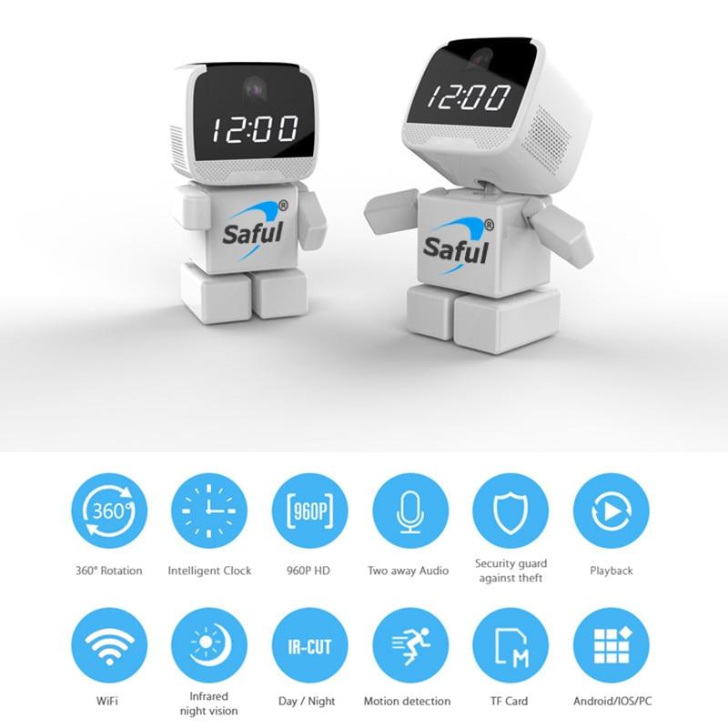 Saful WI-FI IP Камера 960 P робот Беспроводной Видеоняни и радионяни 1.3mp Беспроводной Главная Smart Мониторы в Ночное видение удаленного