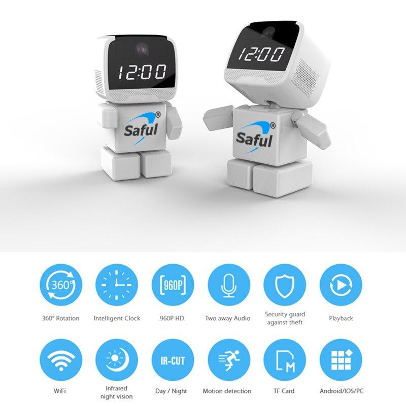 Saful WIFI IP Caméra 960 P Robot Sans Fil Bébé Moniteur 1.3MP Sans Fil Maison Intelligente Monitorin Nuit Vision À Distance
