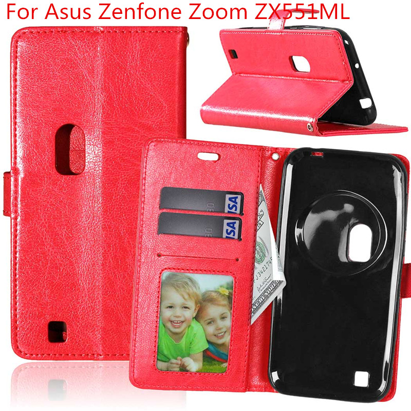 Retro Crazy Horse Leather Case For Asus Zenfone Zoom