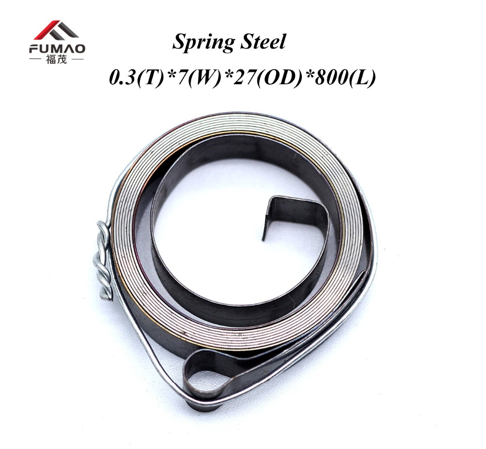 Customized Flat Spiral Clock Style Small Spring Steel constant spring 0.3x7x27x800mmCustomized Flat Spiral Clock Style Small Spring Steel constant spring 0.3x7x27x800mm