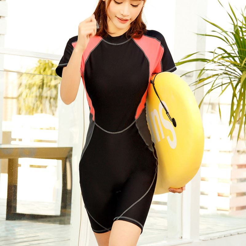 d457f50bee0 2018 One Piece Swimsuit Plus Size Swimwear Women Swimsuit Competition  Training Bathing suit Bodysuit Surfing Suits Wetsuit Blue-in Body Suits  from Sports ...