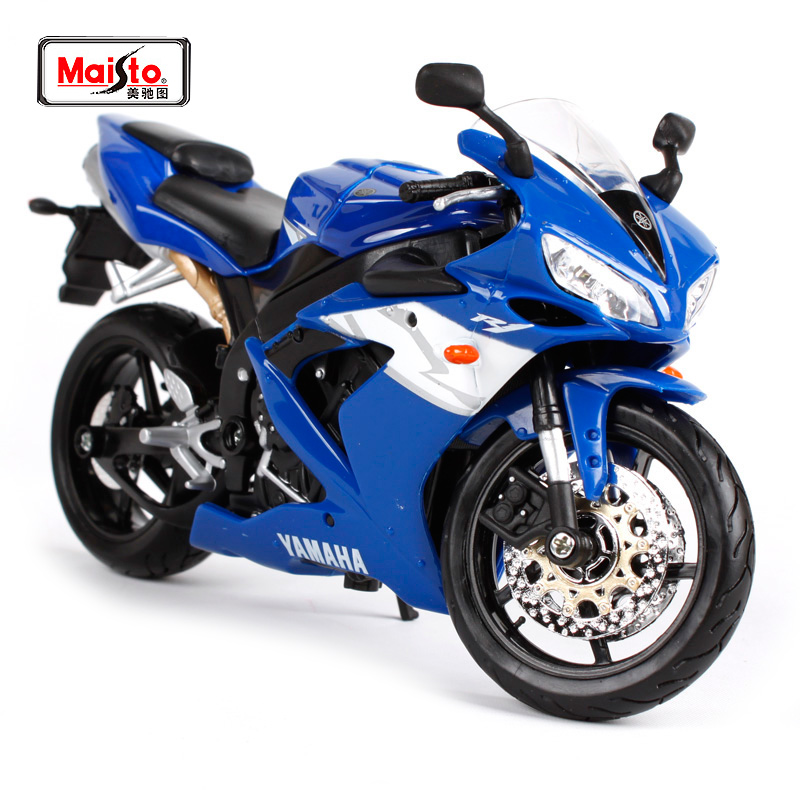 Maisto 1:12 Yamaha YZF-R1 R1 MOTORCYCLE BIKE Model Blue Black White FREE SHIPPING 31102
