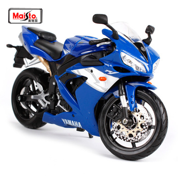 Maisto 1:12 Yamaha YZF-R1 R1 MOTORCYCLE BIKE Model Blue Black White FREE SHIPPING 31102