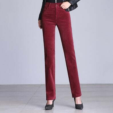 860dfda1af Negro p2 De Talla rojo Informales Capris azul Pantalones p1 Rojo Grande  Rectos Hdl0816 Pana Nueva Cintura Negro Para Azul Mujer Alta ...