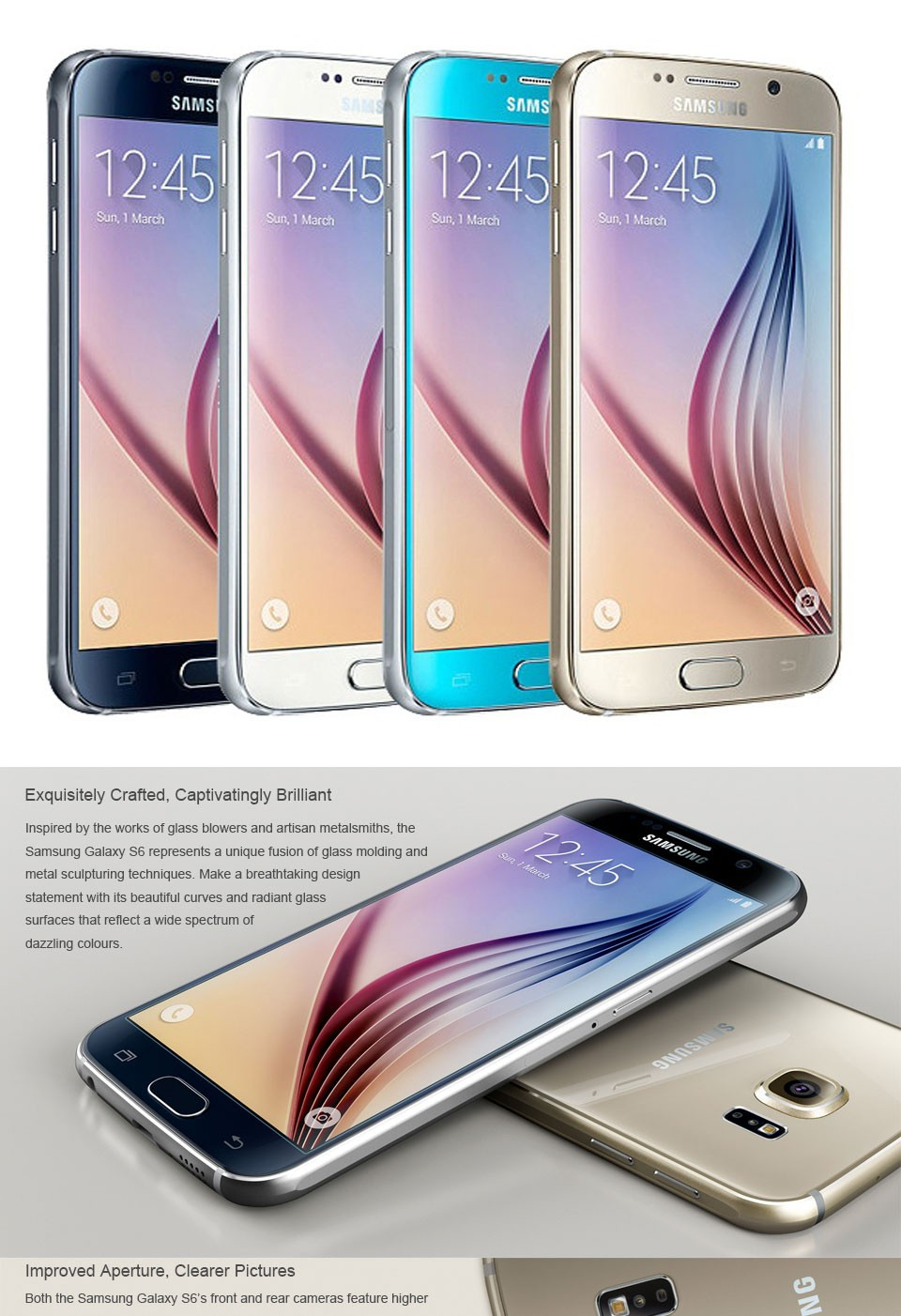 Samsung Galaxy S6 edge Android Mobile Phone G925F Octa Core 5.1