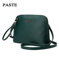 Paste New Mini Shell Leather Handbags Fashion Small Bag Genuine First Layer Cowhide Shoulder Messenger Bag