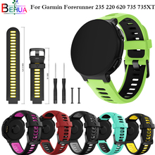 Wrist band for Garmin Forerunner 735XT/220/230/235/620/630 smart watch band Replacement Silicone sport Watchband strap Bracelet