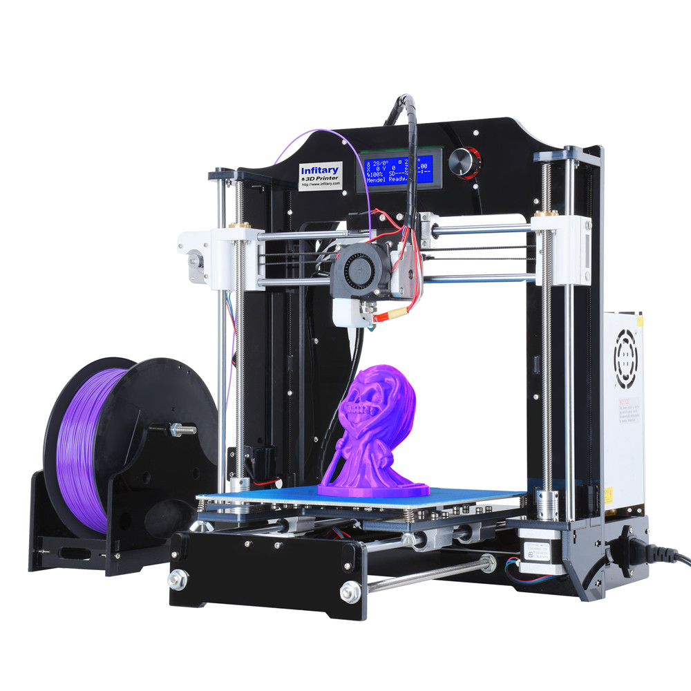 Infitary 3D Printer High Precision Large Printing Size i3 DIY 3d Printer kit With Free PLA filament CNC Cheap impresora 3d original anycubic 3d pinter kit kossel pulley heat power big size 3d printing metal printer fast shipping from moscow