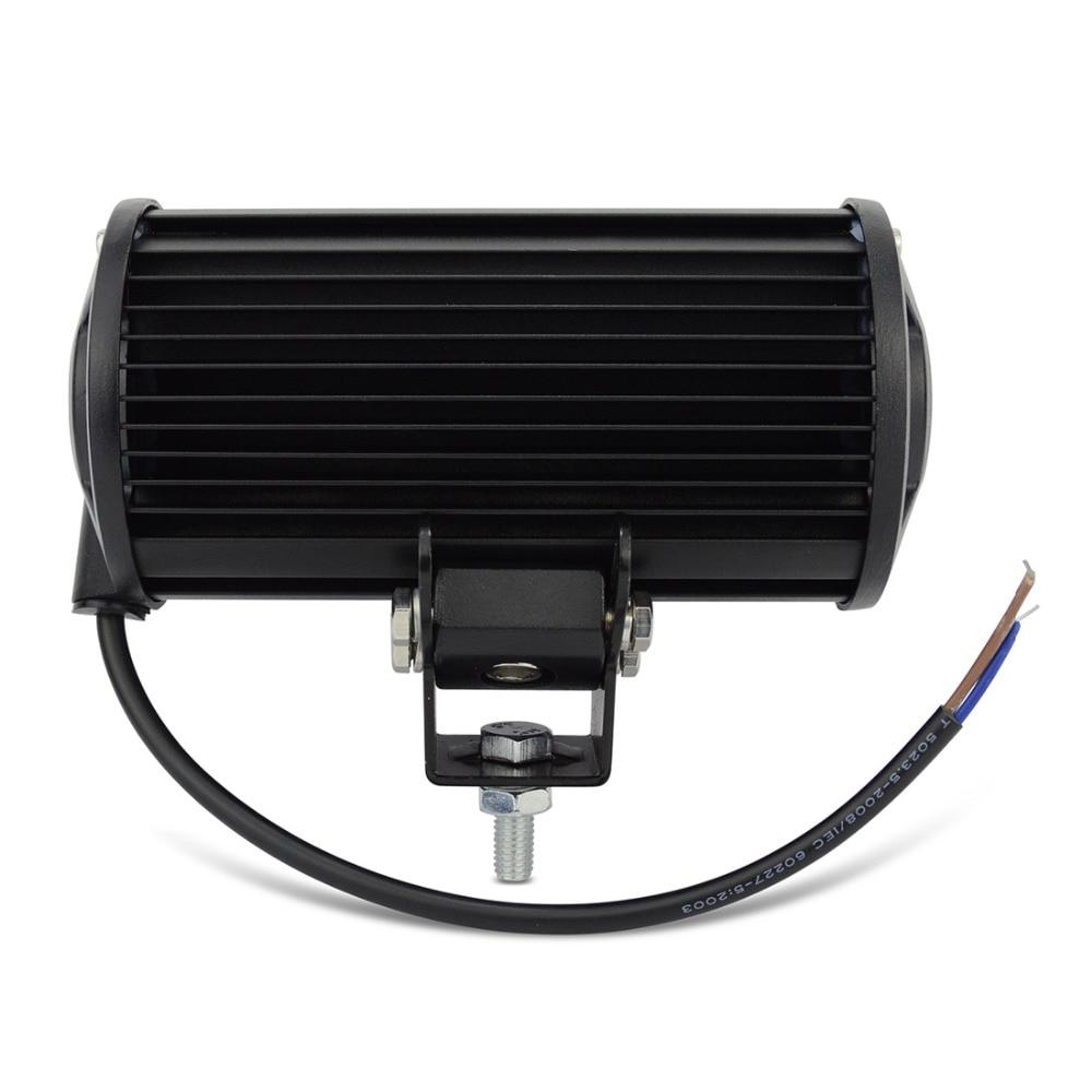 2PCS 7INCH 36W LED WORK LIGHT BAR FLOW OFFROAD LIGHT TRACTOR BOAT ATV - Ավտոմեքենայի լույսեր - Լուսանկար 3