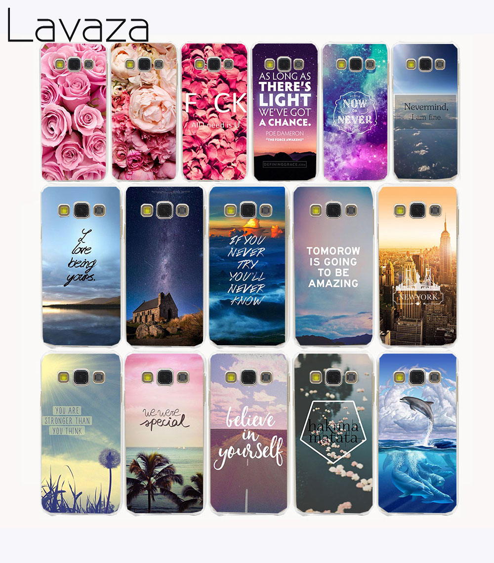 Lavaza 1005CA Rose Flower Sky City Hard Case for Samsung Galaxy A3 A5 2017 2016 A7 A8 Plus 2018 2016 Grand Prime 2 Note 8 ...