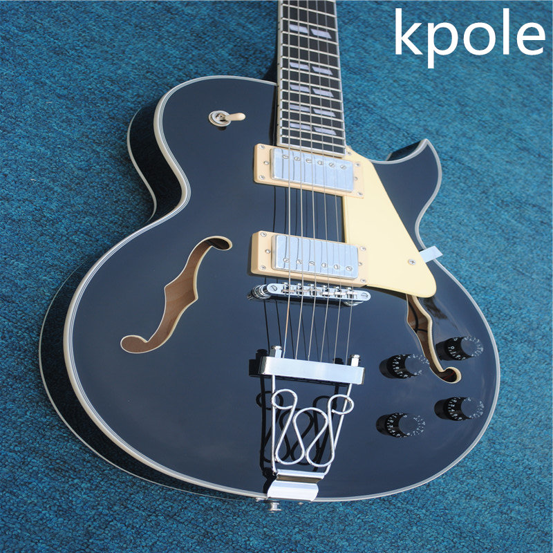 free shipping new arrival kpole top quality hollow body jazz electric guitar jazz square gold. Black Bedroom Furniture Sets. Home Design Ideas