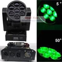 DJ оборудование светодио дный светодиодный движущийся головной свет луч зум 7 Вт 15 Высокая мощность RGBW 4в1 цвет смешивание 10/14 каналов лазер Dj