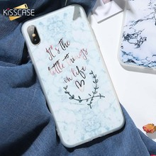 KISSCASE Chic Case For iPhone 6 6s 7 8 Plus Soft Marble Pattern Cover 5s X Xr Xs Max Rose Silicone Phone Shell Funda