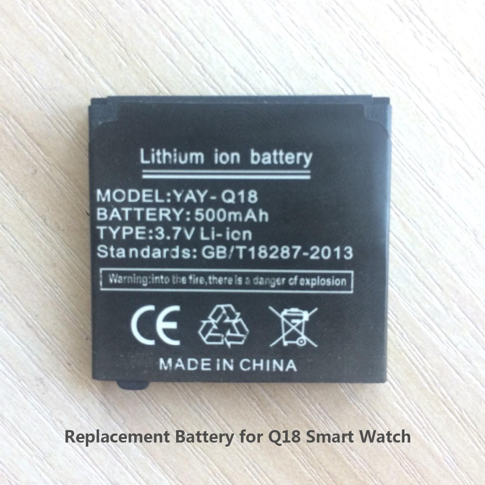 Replacement Battery for Smart Watch Q18,Capacity 500mah,Rechargeable Lithium ion Spare Battery for Smart Watches Q18