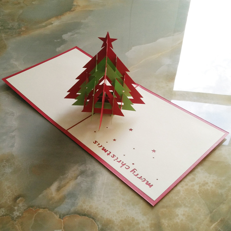 10 Stukspartij Handgemaakte Papier Vouwen 3d Vrolijk Kerstboom