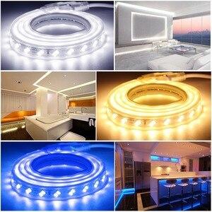 Image 5 - Dây ĐÈN LED 220 V Mờ Đèn Điều Khiển Từ Xa RF Chống Nước Ruy Băng LED SMD 5730 120 Đèn LED/M Ledstrip Diode băng Trang Trí Nhà Sọc