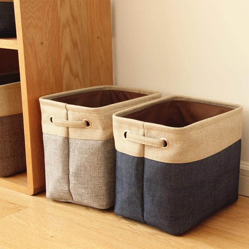 New Cotton Linen Storage Boxes For Ties Socks Shorts Bra Underwear Divider  Drawer Sundries Basket Organizer