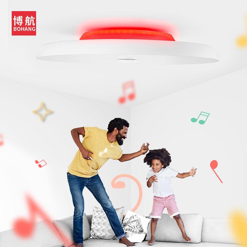 Plafond moderne à LEDs lumières Dimmable 36W 48W 72W APP télécommande Bluetooth musique lumière haut parleur foyer chambre intelligente plafonnier - 2