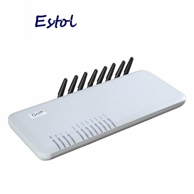 מקורי DBL GoIP 8 יציאות gsm gateway/voip sip gateway/IP GSM Gateway/GoIP8 VoIP 8 ערוצים תמיכת SIP/H.323 עבור IP PBX שרת