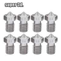 2 teile/los 3D Drucker V5 V6 edelstahl Düse Gemischt Größen 0,4mm/0,3mm/0,5mm M6 schraube gewinde für 1,75 m/3,00 MM filament