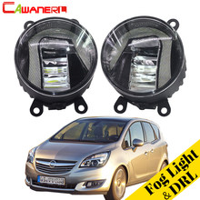 Cawanerl Car Accessories LED Fog Light Daytime Running Lamp DRL White 12V Styling For Opel Meriva A 2006-2010(China)