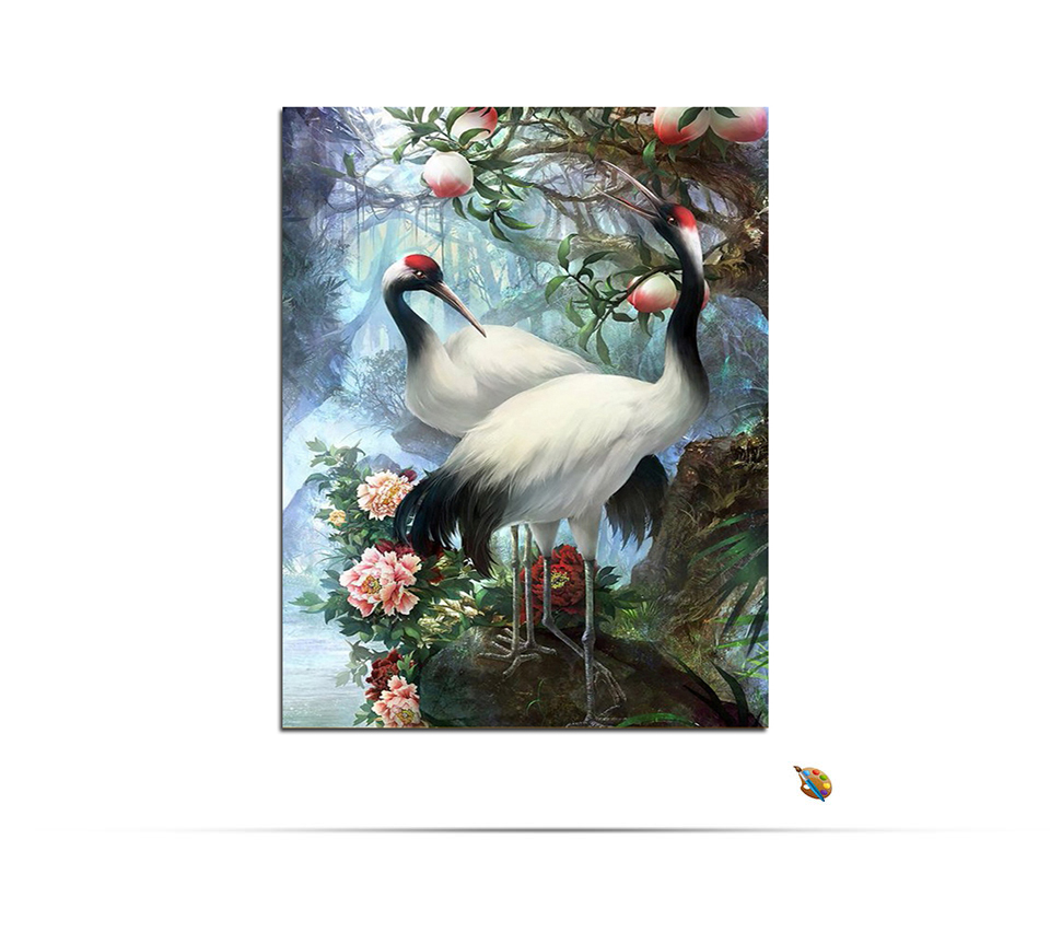 Paint By Numbers - Birds Red Crowned Crane