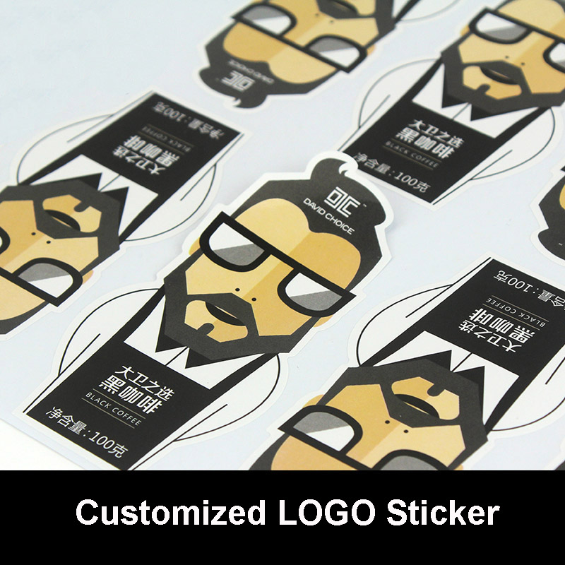 Customized LOGO Silver Drawbench/Matte Silver Sticker Company QR Code Sticker Personalized Stickers PVC Stickers Wholesale customized badge holder lanyard company logo print personalized lanyard printing badge accessories