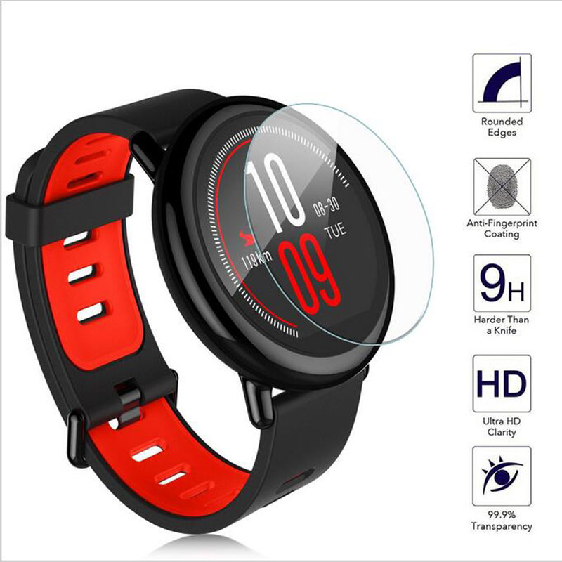 Ultra Clear Protective Film Guard For Xiaomi Huami Amazfit pace Sports Smart Watch Tempered Glass Screen Protector Display Cover benks tempered glass for xiaomi 5 2 5d radians screen protector