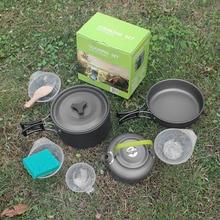 Widesea Camping cookware Outdoor Cookware Set Camping Tableware Cooking Set Travel Tableware Cutlery Utensils Hiking Picnic Set