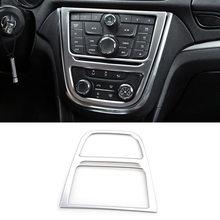 Décoration de panneau central chromé pour Buick Encore, pour Opel/Vauxhall Mokka 2012 2013 2014 2015 2016