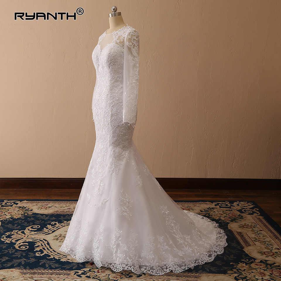 7a360440ff5 ... Vestido de novia Sexy Long Sleeves Lace Mermaid Wedding Dress 2019 New  Arrival Vestidos de novia ...