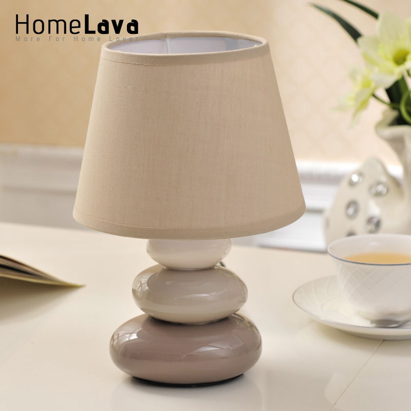 ФОТО Hot2016 New Modern Solid Color Fabric Ceramic Table Lamp For Living Room Desk Lamp luminaria de mesa Lamp Bedroom Reading Lights