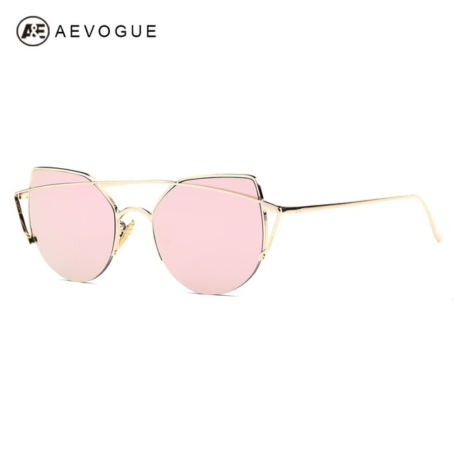 AEVOGUE Sunglasses Women Cat Eye Luxury Brand Designer Copper Frame Hot Selling Sun Glasses Vintage With Box UV400 AE0446