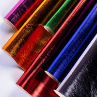 1 Meter Soft Faux Leather Fabric Glitter Synthetic Leather Cloth for Hair Bow Craft Accessories Cuero Sintetico Tissu Paillette