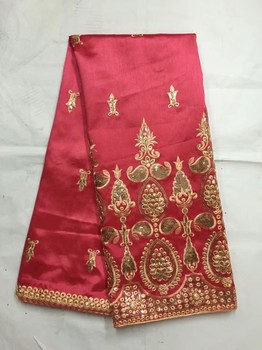 (5 yards/lot) High quality African george lace fabric,Red african george wrapper for dress wedding (B8-4-19