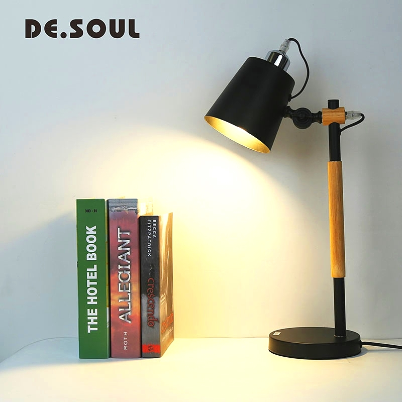 купить DE.SOUL Led Table Lamp Modern Table Lamps For Bedroom Bedside Lamp E27 Led Desk Lamp онлайн