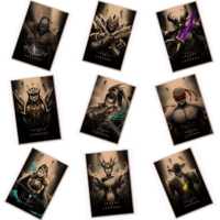 Creative Vintage League of Legends LOL Heroes Poster Retro Kraft Paper Bar Cafe Home Decor Painting
