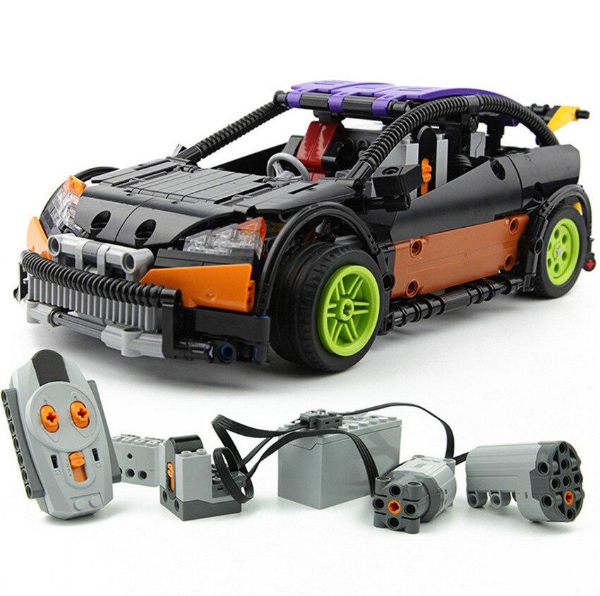 640 шт. Лепин 20053 дизайн серии хэтчбек Тип RC автомобиль MOC-6604 Building Block Дети Дистанционное управление автомобиля Обучающие кирпич